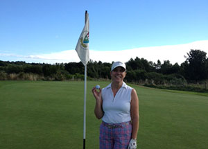 Hole in one for Rhona Pirie