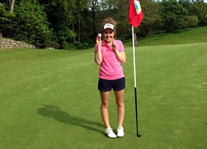 Hole in One for Megane Clyne